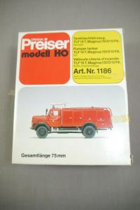 Preiser modell 1186 Tanklöschfahrzeug TLF16T Magirus 150D10FA Bausatz  H0 (K24)