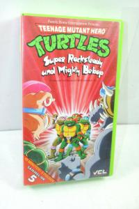 TEENAGE MUTANT HERO TURTLES Super Rocksteady VHS Kassette Zeichentrick (K31)