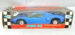 EUROPA 7145 Ford G.T. Friktionsmotor Plastik Modellauto ca.21cm - mit OVP (K32)