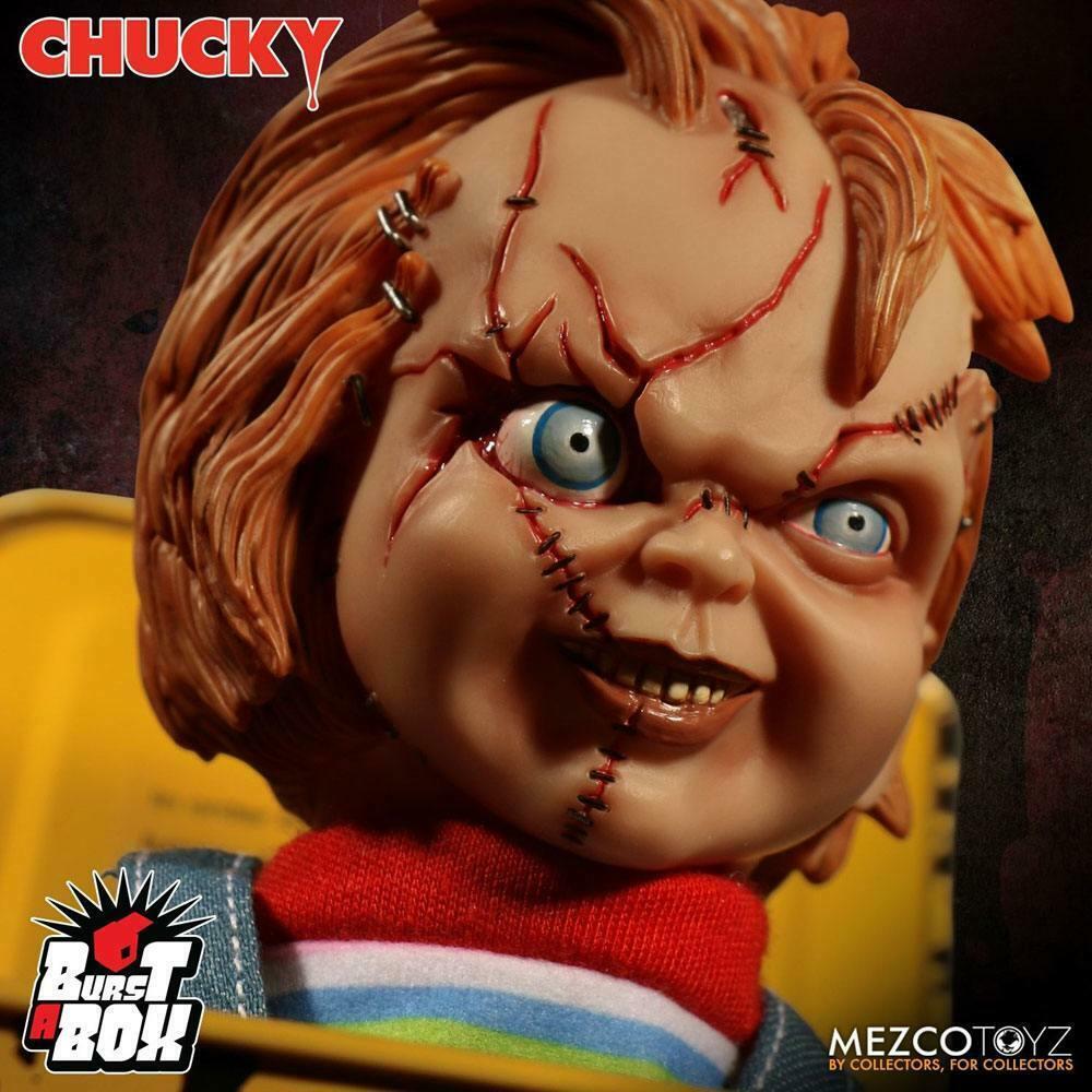 CHUCKY & seine Braut Burst-A-Box Springteufel Spieluhr MEZCO ca.36cm Neu (L)* 1