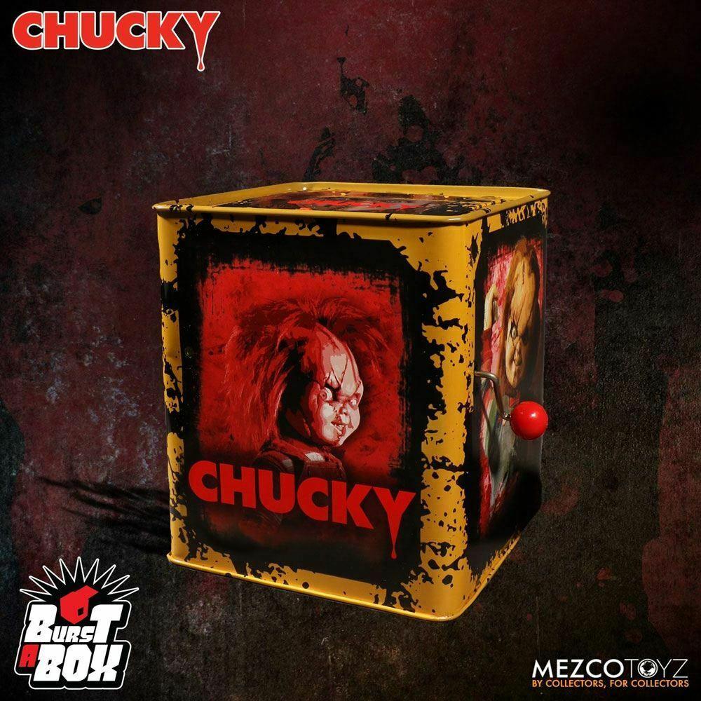 CHUCKY & seine Braut Burst-A-Box Springteufel Spieluhr MEZCO ca.36cm Neu (L)* 2