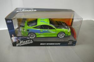 Fast & Furious Brian´s Mitsubishi Eclipse  Die Cast  Modellauto 1:24 OVP  (WR7)