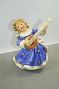 GOEBEL Hummel  Weihnachten Engel Mandoline Spieluhr Stille Nacht ca.18cm (K41)