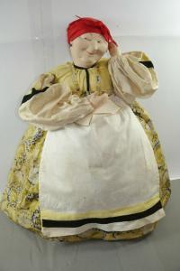 Antik Puppe Doll  Kaffewärmer 40/50er Jahre  Vintage  Kersa ?    (K6)