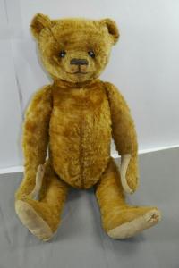 Antik Teddy Bär Mohair ca.46 cm  1910-1920 Vintage Schuhknopfaugen   (K6)