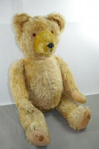 Antik Teddy Bär Mohair gelb ca.61cm  50/60er Jahre  Hermann ? Sonneberg ?  (K6)