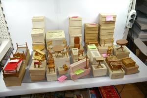 Puppenmöbel Holz großes Konvolut 52Teile  Americana Doll House  Vintage (F27)