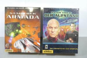 PC Spiele Star Trek Der Aufstand + Armada Windows 95/98 CD Rom Neu OVP K51