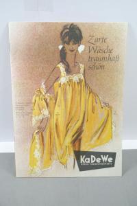 KaDeWe Berlin alter Katalog vintage Wäsche Unterwäsche Hachthemd 50/60er  (MF19)