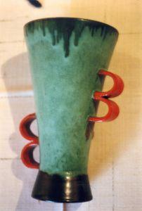Goldscheider Vase aus Wien
