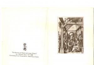 Handgravüre auf Seide, Kupferstich A.D.