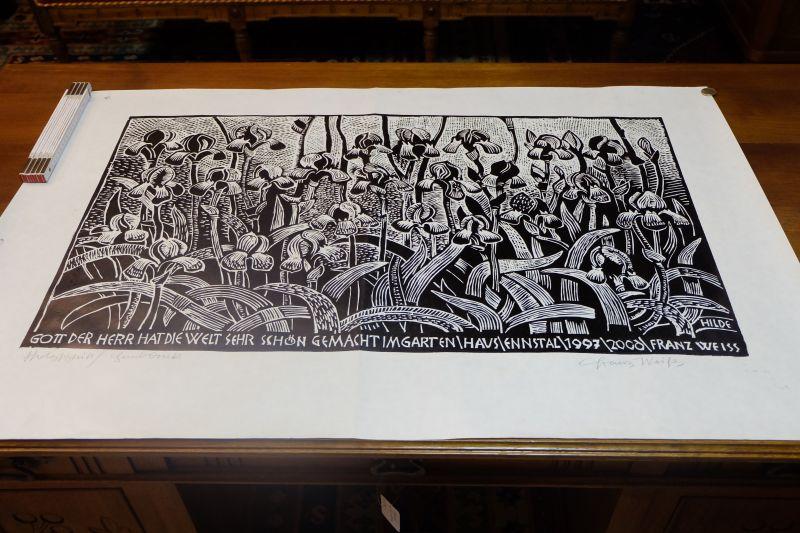 Holzschnitt vom Akademischen Maler und Bildhauer Prof. Franz Weiss