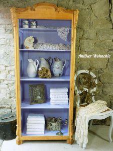 antiker Geschirrschrank Bücherschrank Vitrine Bücherstellage