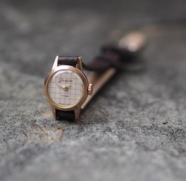 Vintage Damen-Armbanduhrl Glashütte \'70er