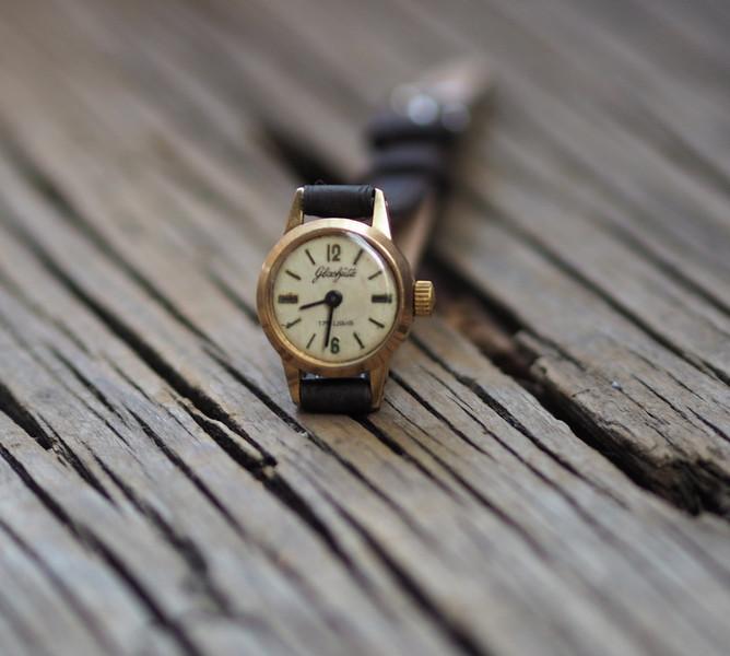 Vintage Damen-Armbanduhrl Glashütte \\\\\\\'70er