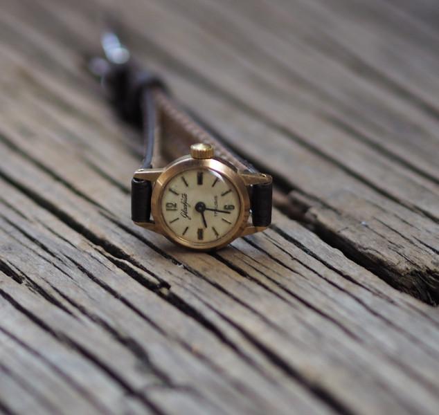 Vintage Damen-Armbanduhrl Glashütte \\\\\\\'70er 1