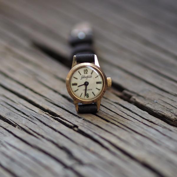Vintage Damen-Armbanduhrl Glashütte \\\\\\\'70er 2