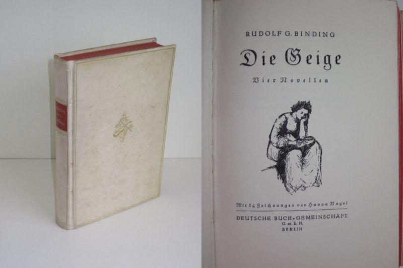 Rudolf G. Binding | Die Geige - Vier Novellen