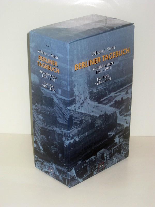 William L. Shirer, Jürgen Schebera (Hg.)   Berliner Tagebuch (Zwei Bände komplett) - Band 1: Aufzeichnungen 1934-1941 - Band 2: Das Ende 1944-1945