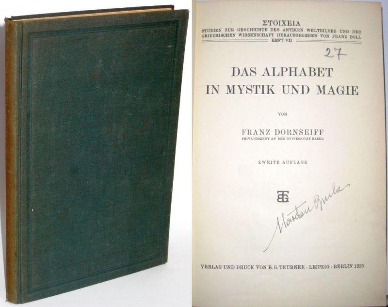 Franz Dornseiff | Das Alphabet in Mystik und Magie