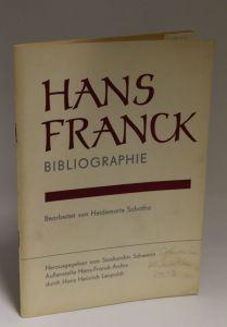 Bearbeitet von Heidemarie Sobotha | Hans Franck - Bibliographie