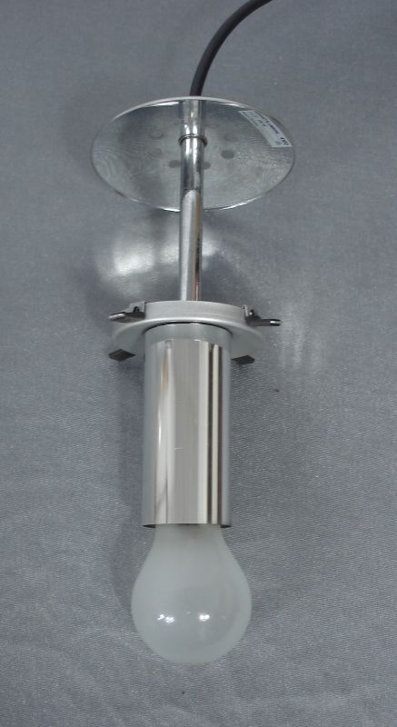 Kugelglas Hängelampe Glashütte Limburg 29 cm Ø, Mid Century Modern 4