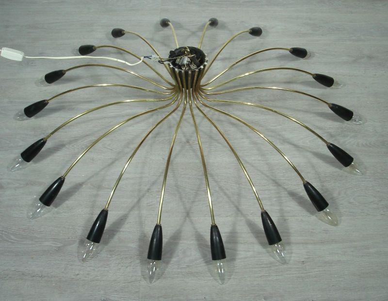 50er 60er XXL Spinnen Sputnik Kronleuchter Atomic Space Age Deckenlampe 18-flammig, Mid Century Modern 1
