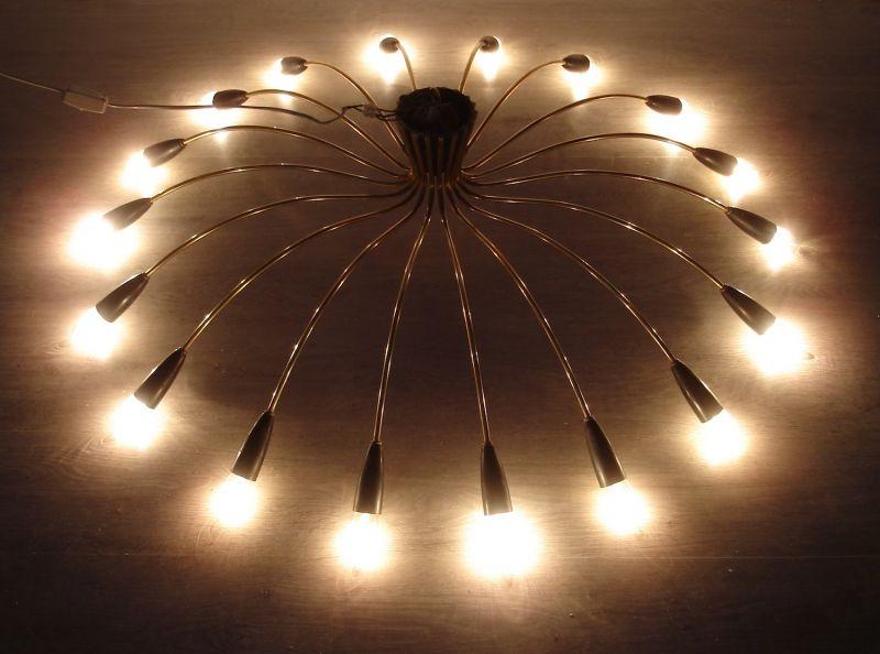 50er 60er XXL Spinnen Sputnik Kronleuchter Atomic Space Age Deckenlampe 18-flammig, Mid Century Modern 2
