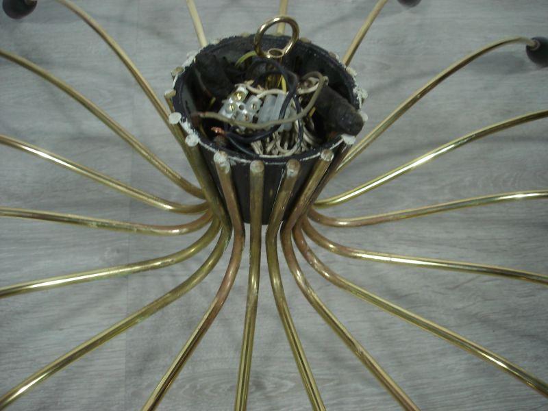 50er 60er XXL Spinnen Sputnik Kronleuchter Atomic Space Age Deckenlampe 18-flammig, Mid Century Modern 7