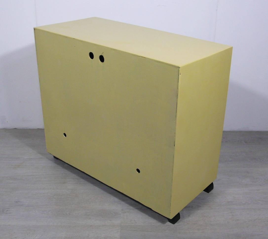 50er Schuhschrank 2 Klapptüren Mondrian Stil Muster, Mid Century Modern 2