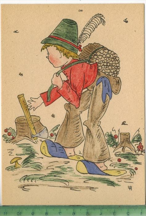 Künstlerkarte, KindVerlag: Meindl & Kittsteiner, München-Pasing PostkartePublication authoriz by 6870 DICC. US ARMY,