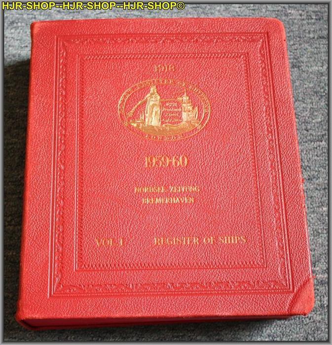 LLOYDS REGISTER OF SHIPPINGREGISTER BOOCK 1959-6071, FENCHURCH STREET, LONDON, E. C.3, ENGLANDFormat 4*, Leder gebunden,