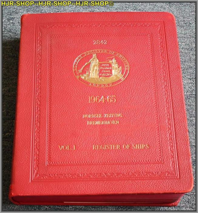 LLOYDS REGISTER OF SHIPPINGREGISTER BOOCK 1964-6571, FENCHURCH STREET, LONDON, E. C.3, ENGLANDFormat 4*, Leder gebunden,