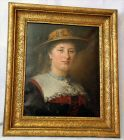 Beek, Theodor von der, dt. Genremaler, *20.4.1838 Kaiserswerth, †15.3.1921Motiv: Leicht seitlich gegebenes Brustb