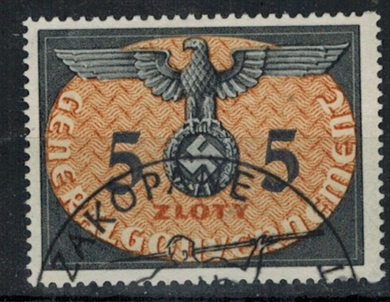 1940, Generalgouvernement, MiNr. 15 –5 Zl ZUSTAND: I-II