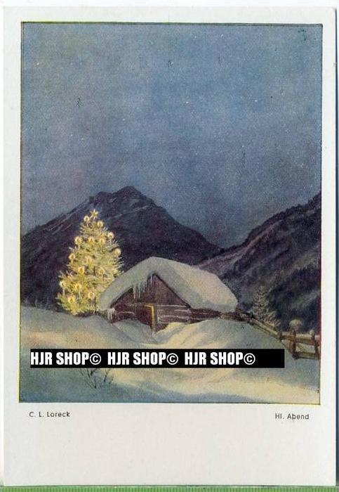""""""" Hl. Abend, C.L. Loreck""""   um 1930/1940,  Ansichtskarte,"""