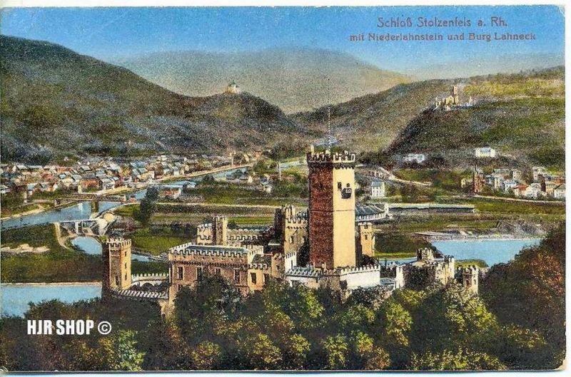 Postkarte, Schloß Stolzenfels