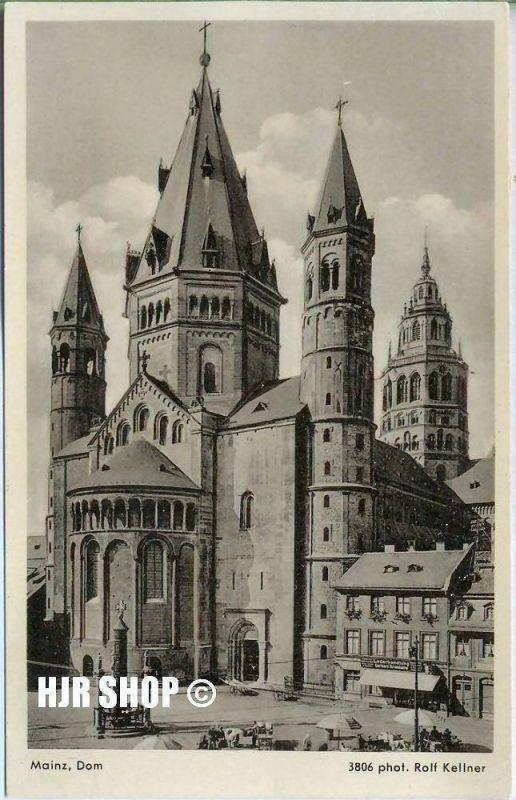 Postkarte, Mainz, Dom