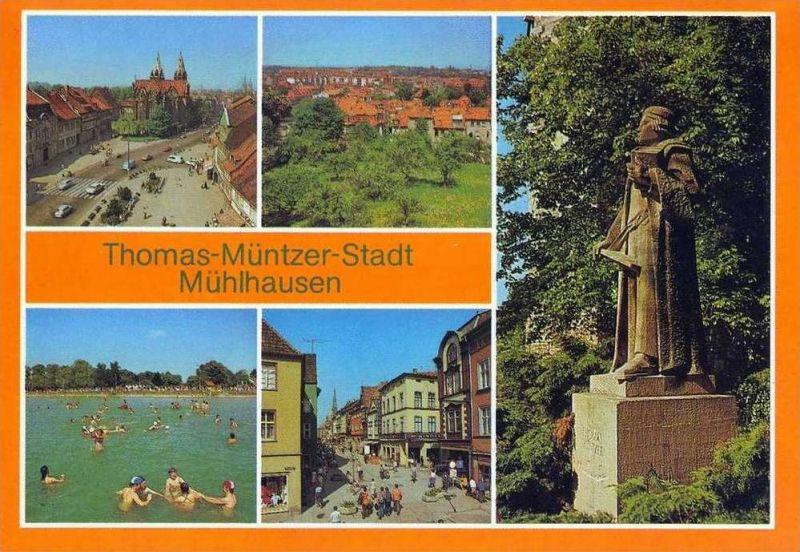 Ansichtskarte, Mühlhausen-Thomas Müntzer-Stadt