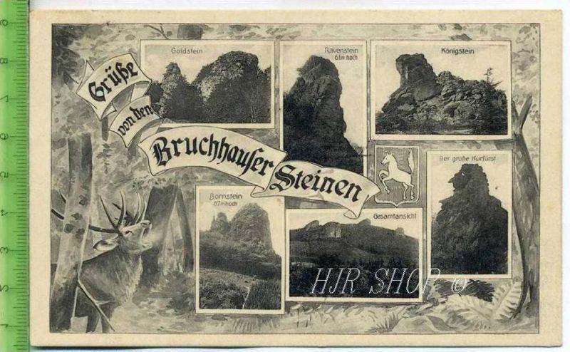 Grüße von den Bruchhauser Steinen  Gel. 28.05.1928