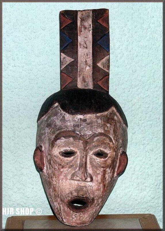 Kleine Maske mit gemustertem Brettaufsatz, original Afrika