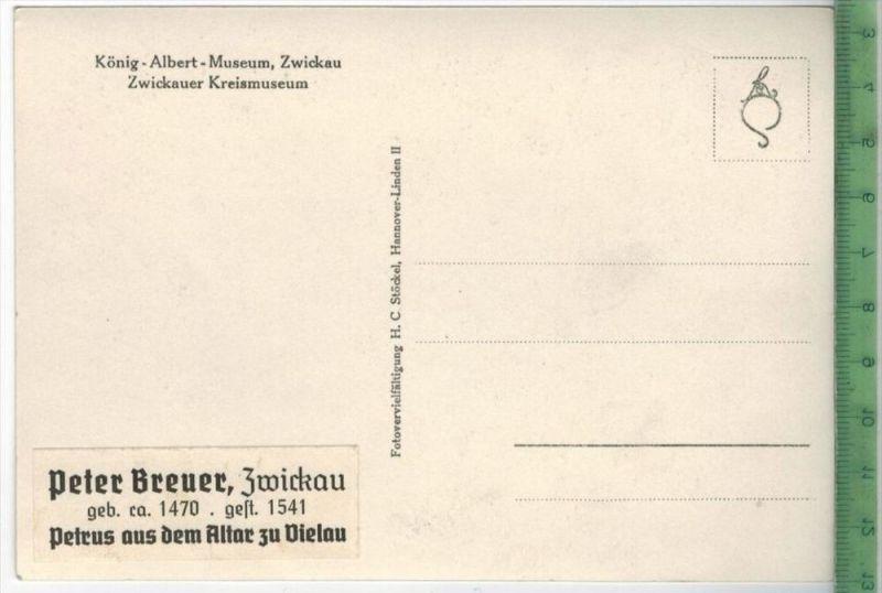 Zwickau Karte.König Albert Museum Zwickau Petrus Aus Dem Altar Zu Vielauverlag Postkarteunbenutzte Karte Ma