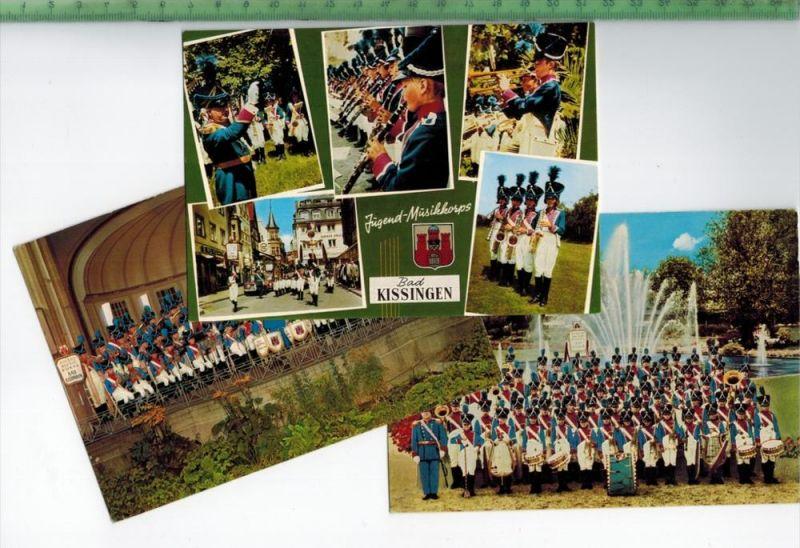 3 x AK, Jugend-Musikkorps Bad Kissingen   Verlag: Schöning & Co., Lübeck,  POSTKARTE, Erhaltung: I-II,  Karte wird in Kl