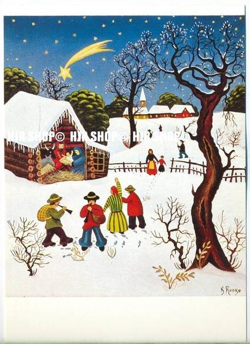 WIECHMANN – BILDKARTEN K. Rodko, Der stern von Bethlehem, Nr.5135