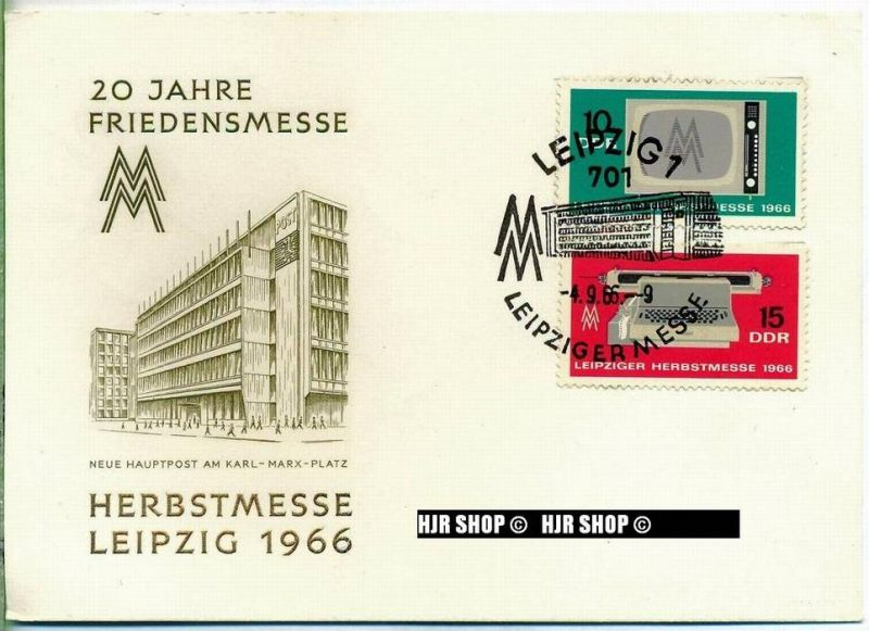 1966, Herbstmesse, FDC, Gest.