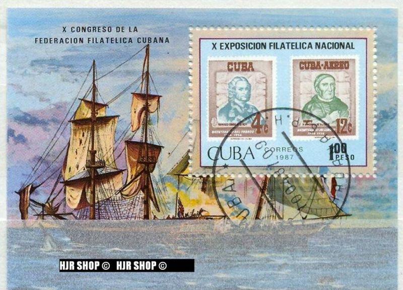 1987,10 Nation. Briefmarkenausst., BL. 97 Gest.