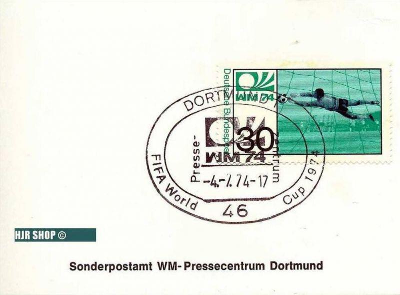 Sonderpostamt WM - Pressecentrum Dortmund, 4. 07. 1974