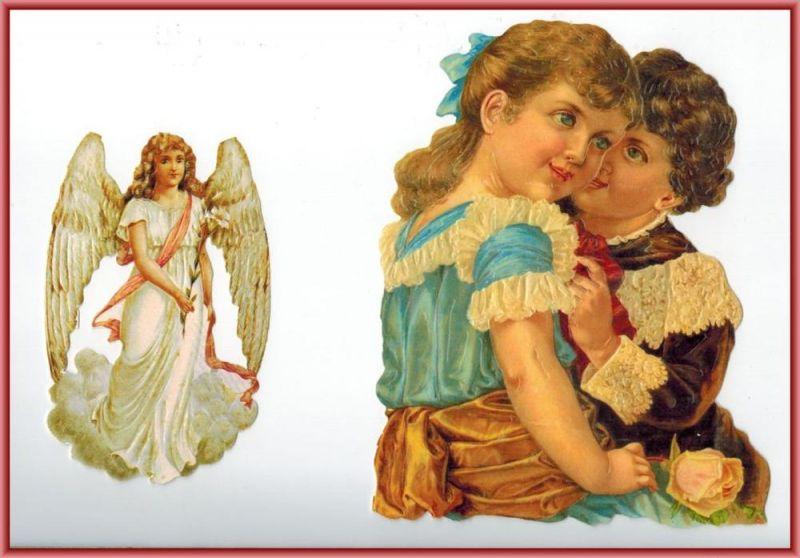Oblaten, Kinder und Engelmaße: 16 x 12,5 cm, 11 x 7 cmZustand: sehr gut