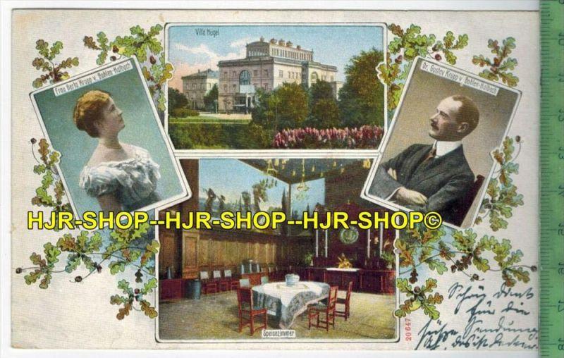 Essen, Villa Hügel, Fam. Krupp 1914 Verlag: hermann Lorch, Dortmund,   POSTKARTE-ohne Frankatur, ohne  Stempel,  9.1.14