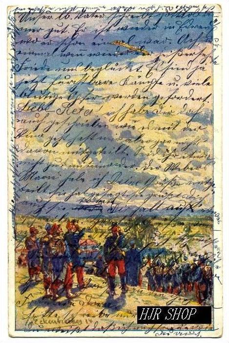 Beschießung einer deutschen Taube Gel.9.03.1916